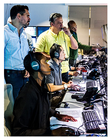 Dean Blandino (left) in the league's Command Center in New York City (image courtesy NFL).