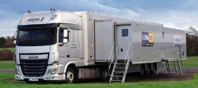 Arena TV's mobile uses an all-IP infrastructure, the first AIMS truck?
