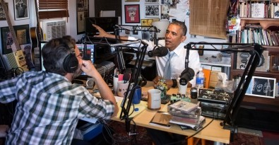 Marc Maron interviews President Obama on his podcast in his garage
