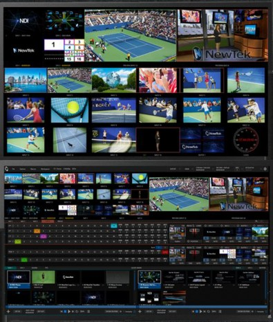 The familiar TriCaster interface remains virtually unchanged.