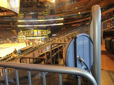 PWS supplied helical and domed helical receive antennas, to ensure a wide coverage pattern across the entire arena.