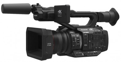The Panasonic AG-UX180 camcorder.
