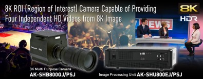 """Panasonic's Region Of Interest (ROI) technology can be used to produce four different HD signals or """"virtual cameras"""" from a single 8K signal."""