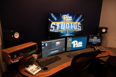 The new 6,000 square foot broadcast production facility features three redundant broadcast control rooms, multiple editing suites, and a main broadcast studio in the lobby of the Petersen Events Center.