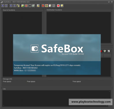 SafeBox Neo replicates remote content to local playout server folders for safe transmission.