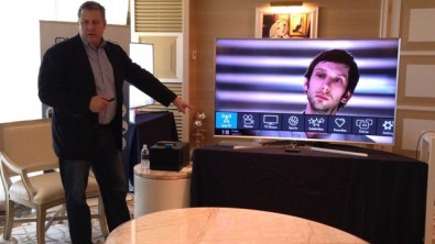 At the Wynn Hotel demonstration suite Kevin Gage, ONE Media's Executive VP and CTO, highlighted the IP benefits and features of a live ATSC 3.0 broadcast.