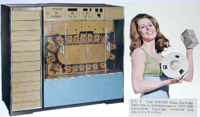 RCA TCR-100, 2-inch video cartridge machine,1969.