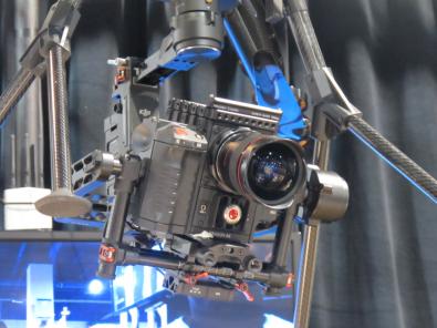 RED 6k Dragon camera on DJI gimbal on Titan X8