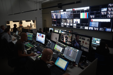 The center includes several production studios and adjourning control rooms, but they can be mixed and matched as required.