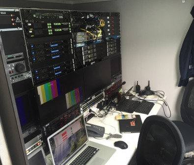 The remote production used a low-latency IFB mixer setup, running on a Lawo Nova17 router and operated with two of Lawo's VisTool panels.