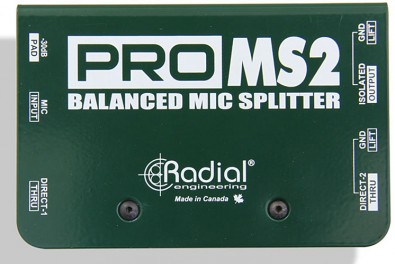 Radial Pro MS2 Balanced Mic Splitter