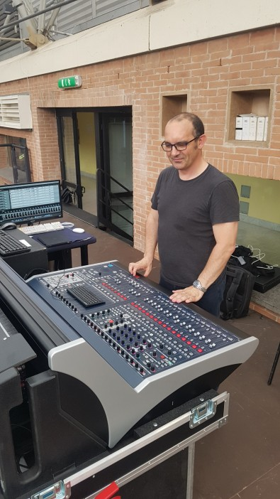 BH Audio's Massimo Carli chose Lawo's IP audio capable mc²36 console for FOH mixing.