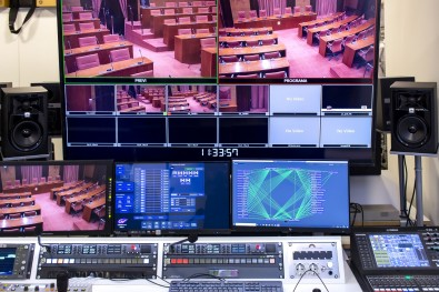 The new Riedel networking infrastructure is a core element in a multiyear HD upgrade of the Parliament's video recording and broadcast capabilities.