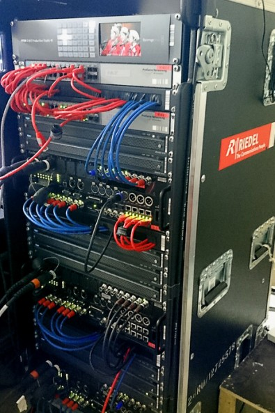 Rack-mounted Riedel STX-200 Skype interfaces for India's Got Talent 2015