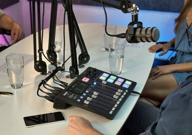 RØDECaster Pro provides one solution to the need for a versatile and cost-effective control system for the one-person-operation required by podcasting.