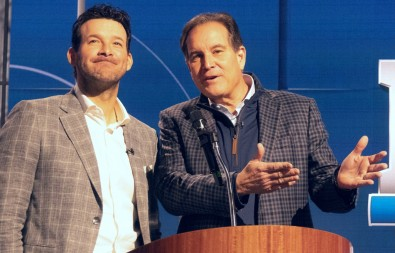 Tony Romo and Jim Nantz