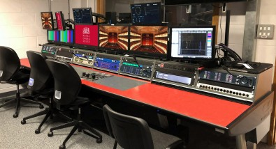 New rasterizer displays top the video monitors in the upgraded Royal Opera House control room.