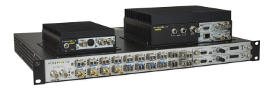 The Evertz Scorpion Media Processing Platform is a signal conversion, routing, aggregation and transport platform capable of simultaneously transporting video, audio, Ethernet and data over traditional dark fiber and/or 10/25/40/100GbE networks.