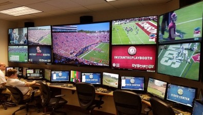 HDSport Instant Replay screens in the SEC Video Centre