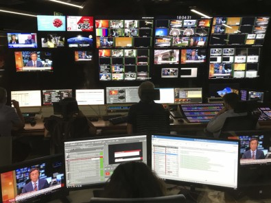 The facility features three studio floors and two control rooms outfitted with Sony switchers and a full complement of IP devices.
