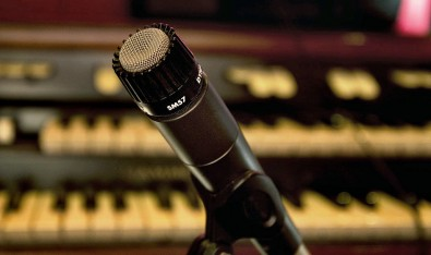 Shure SM 57 microphone performs well on almost any audio application.