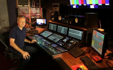 Simon Wall, Sound Supervisor at The Hospital Club, at his new Solid State Logic System T console.