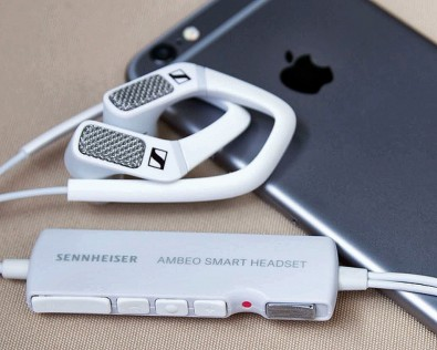 Sennheiser Ambeo Smart Headset with iPhone
