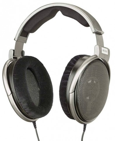 Sennheiser HD650 open-back headphones provide a frequency response, which is key in live mixing environments.