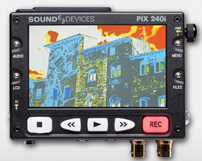 The Sound Devices' Video Devices PIX 240i HD portable recorder relies on <br />either company-recommended CompactFlash or 2.5-inch hard and SSD drives.