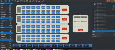 TallyMan users can design virtual control panels, usually implemented on touchscreen PCs.