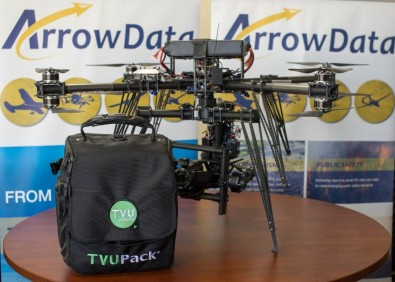 TVU Networks announced that its transmitters are being used by ArrowData to transmit live imagery to ground receivers.