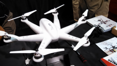 iUAS Inc poduces several models of UAVs,  The eight-motor Tali H500, and the four-blade Tali Voager 3 shown below.