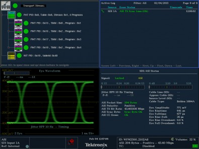 The Tektronix WFM2300 Multiformat, Multistandard Portable Waveform Monitor is an all-in-one solution for technicians and engineers who need to make a variety of video measurements.