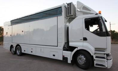 Tilt Mobile Production truck.
