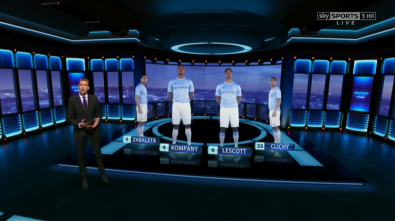 Vizrt virtual set at Sky Sports