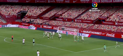Vizrt's Arena virtual graphics system helped create this crowd for a LaLiga match in Barcelona, Spain. The Camp Nou stadium was empty during the live broadcast.