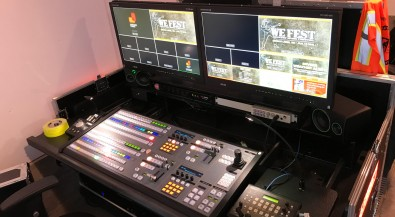 The ATEM Constellation 8K switcher was the heart of a flypack system that included Blackmagic's Smart Videohub 12G 40x40 router, an ATEM 2 M/E Broadcast Panel and more.