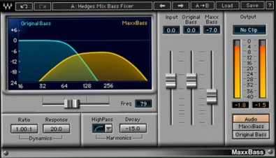 WAVES MaxxBass plugin.