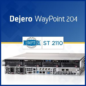 The WayPoint 204 receiver is the first Dejero solution to support SMPTE ST 2110 standards for professional media.