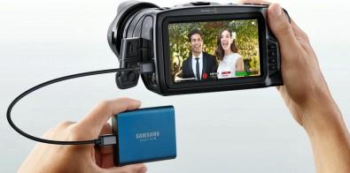 Blackmagic camera recording via USB-C to Solid State Drive