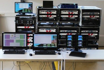 Nine Remote Racks with Lawo gear were used to serve 13 venues, linked to a local OB Van.