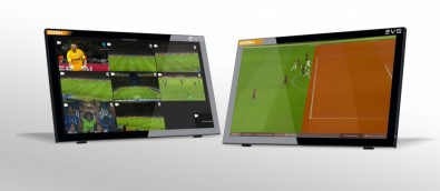 The latest version of EVS' Xeebra refereeing system features AI integration to enable users to automatically calibrate the field of play – something that's very time-consuming if done manually.