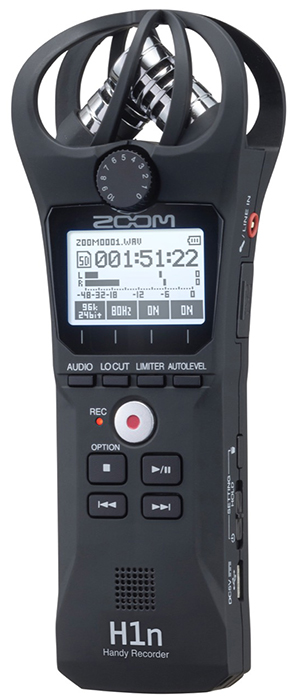 Zoom H1n Recorder.