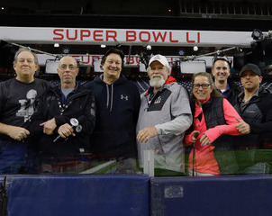 Members of the audio team for Super Bowl LI, with Fred Aldous centre (under the 'R')