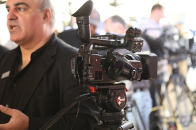 Band Pro crowds always find new video support gear at these events.