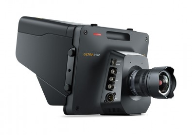 Blackmagic CEO Grant Petty has a reputation for departing from convention. Why should the camera operator have the worst view on set? Why not give the operator a large monitor, and this is indeed what the Blackmagic studio camera features.