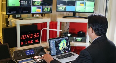 From his living room control room, Garcia produces a large amount of live and pre-recorded content for TV and online streaming.