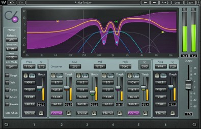 Waves C-6 Multiband Compressor Plug-In. Level control is a must. Pick a controller that has sufficient adjustments to tailor the sound as you desire.