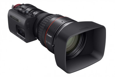 The CINE-SERVO 50-1000mm lens provides a long focal length and the highest (20x) magnification when compared to other super 35mm zoom lenses.