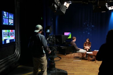 Students at the Dodge College of Film and Media Arts get hands-on experience with industry-standard tools that they'll be encountering in the real world of broadcasting.